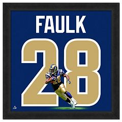 Los Angeles Rams Marshall Faulk Framed Jersey Photo