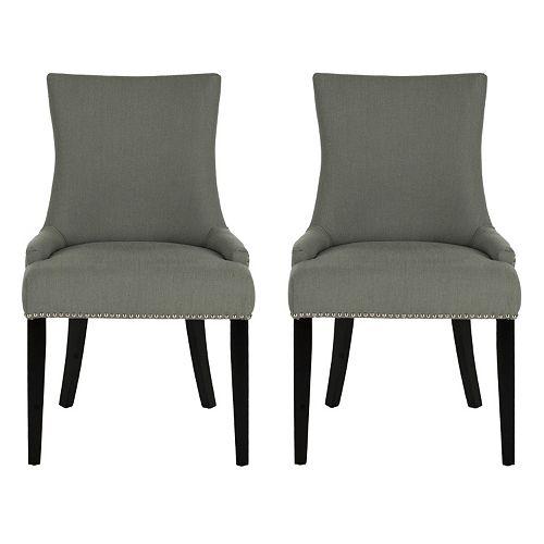 Safavieh Lester Nailhead 2-pc. Dining Chair Set