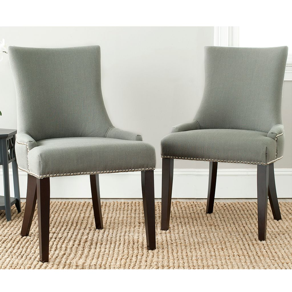 Safavieh Lester Nailhead 2-pc. Dining Chair Set