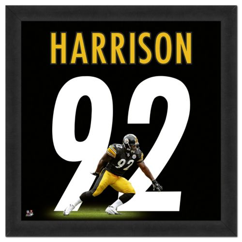 Pittsburgh Steelers James Harrison Framed Jersey Photo