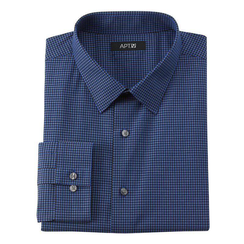 Mens gingham dress shirt kohl 39 s for Van heusen studio shirts big and tall