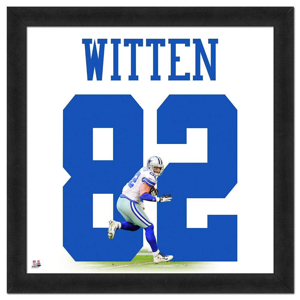 best service fca02 b0f94 Dallas Cowboys Jason Witten Framed Jersey Photo