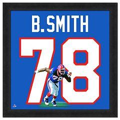 Buffalo Bills Bruce Smith Framed Jersey Photo