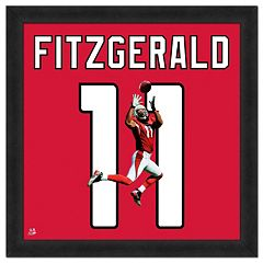 Arizona Cardinals Larry Fitzgerald Framed Jersey Photo