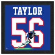 New York Giants Lawrence Taylor Framed Jersey Photo