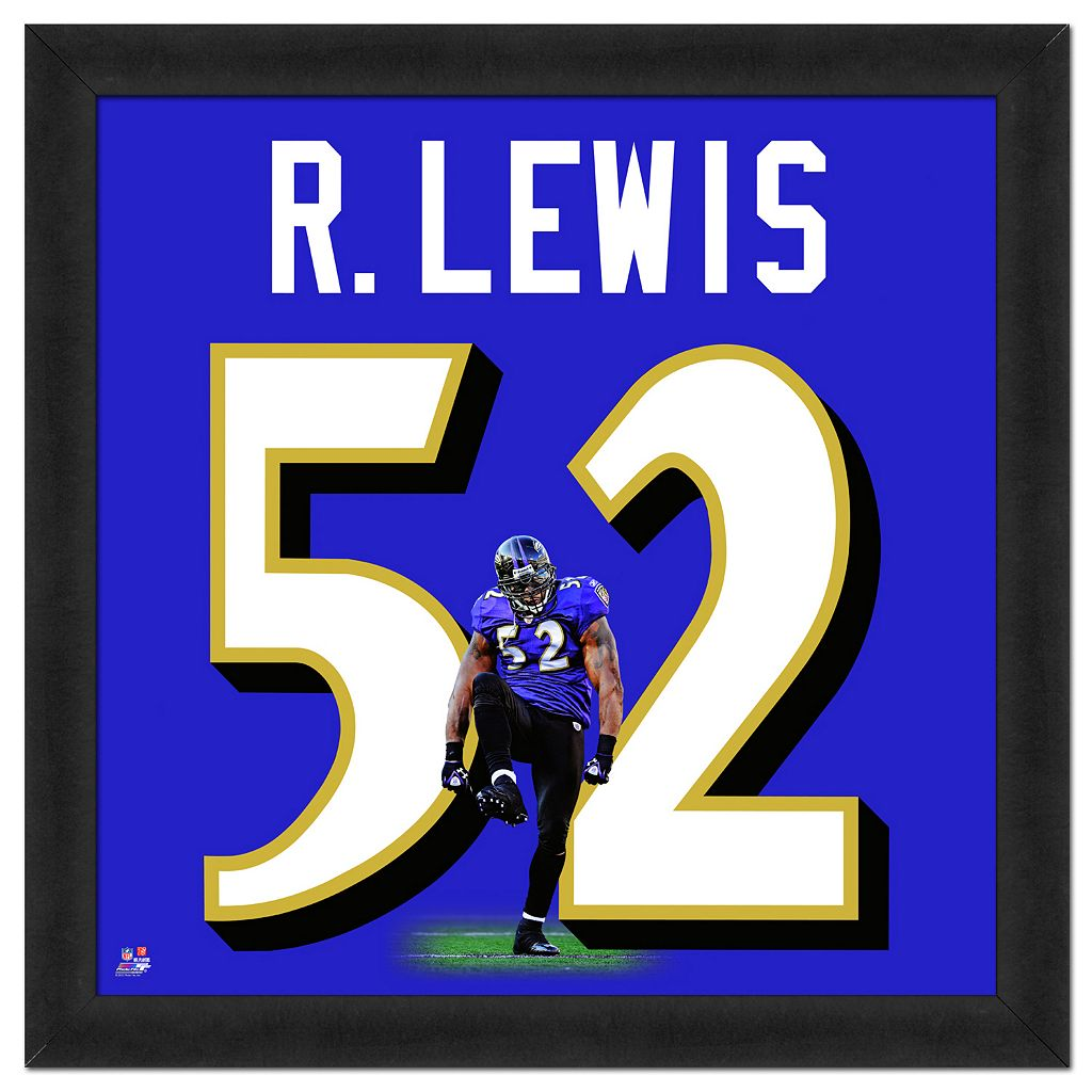 Baltimore Ravens Ray Lewis Framed Jersey Photo