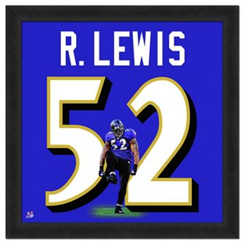 Baltimore Ravens Ray Lewis Framed Jersey Photo