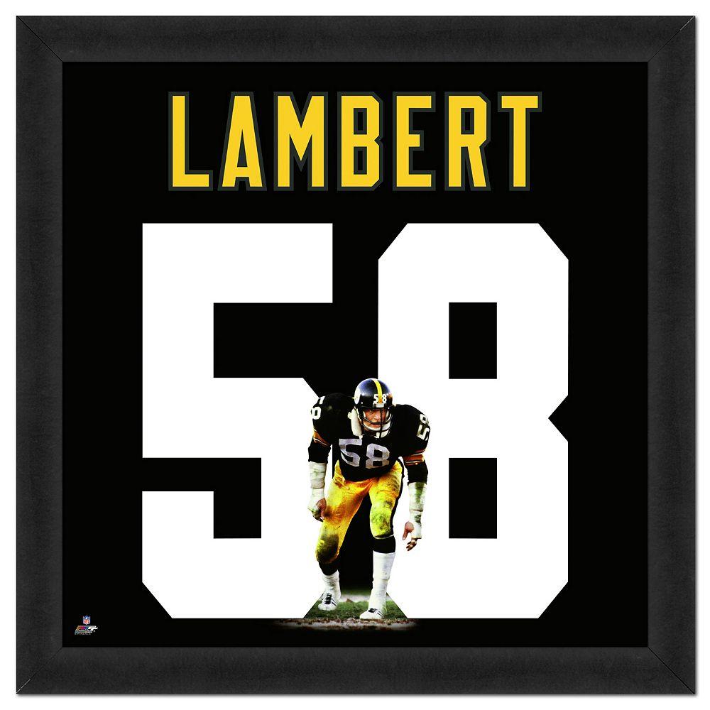 promo code b3f4a ba18d Pittsburgh Steelers Jack Lambert Framed Jersey Photo