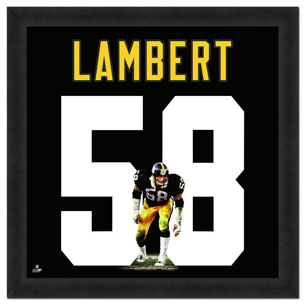 Pittsburgh Steelers Jack Lambert Framed Jersey Photo