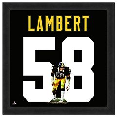 Pittsburgh Steelers Jack Lambert Framed Jersey Photo