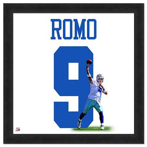 Dallas Cowboys Tony Romo Framed Jersey Photo