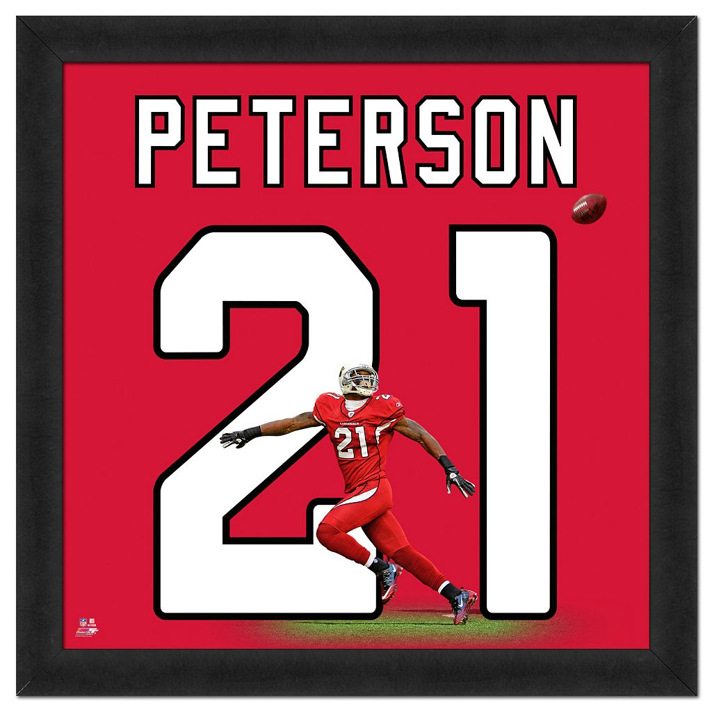 Arizona Cardinals Patrick Peterson Framed Jersey Photo