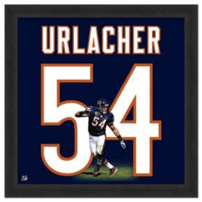 Chicago Bears Brian Urlacher Framed Jersey Photo