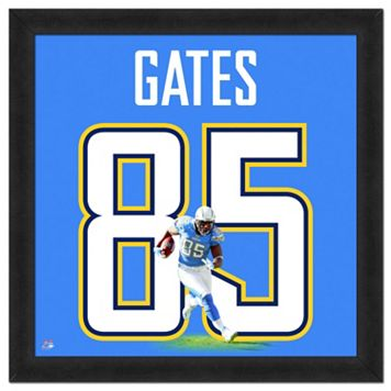 San Diego Chargers Antonio Gates Framed Jersey Photo