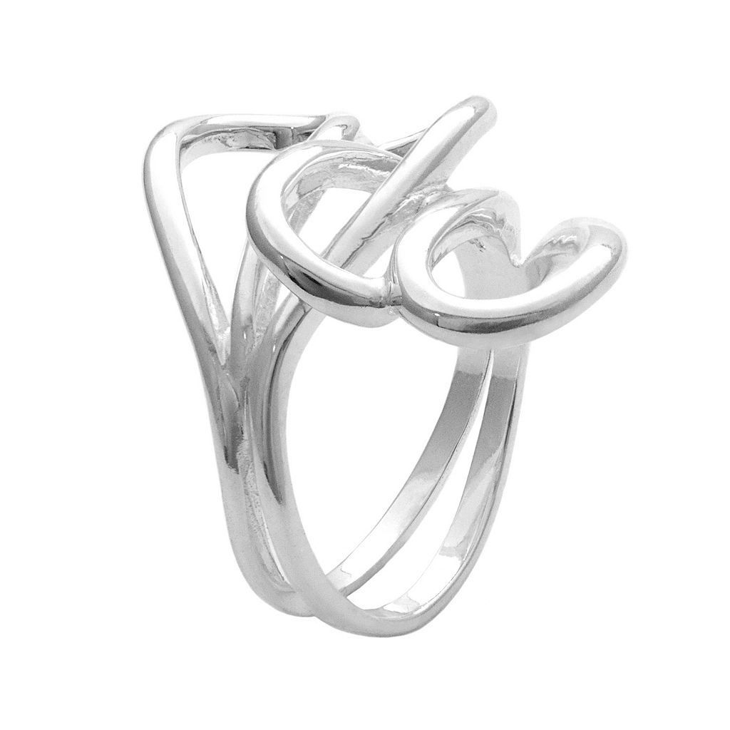 Sterling Silver Interlocking Loop Ring
