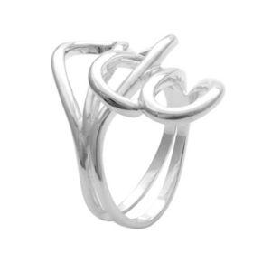 Sterling Silver Interlocking Loop Ring