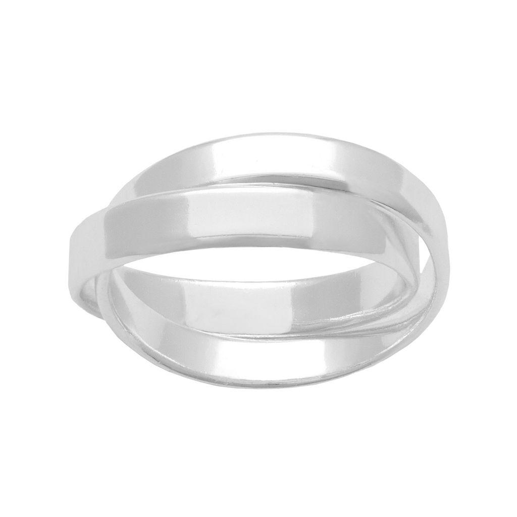 Sterling Silver Interlocking Band Ring