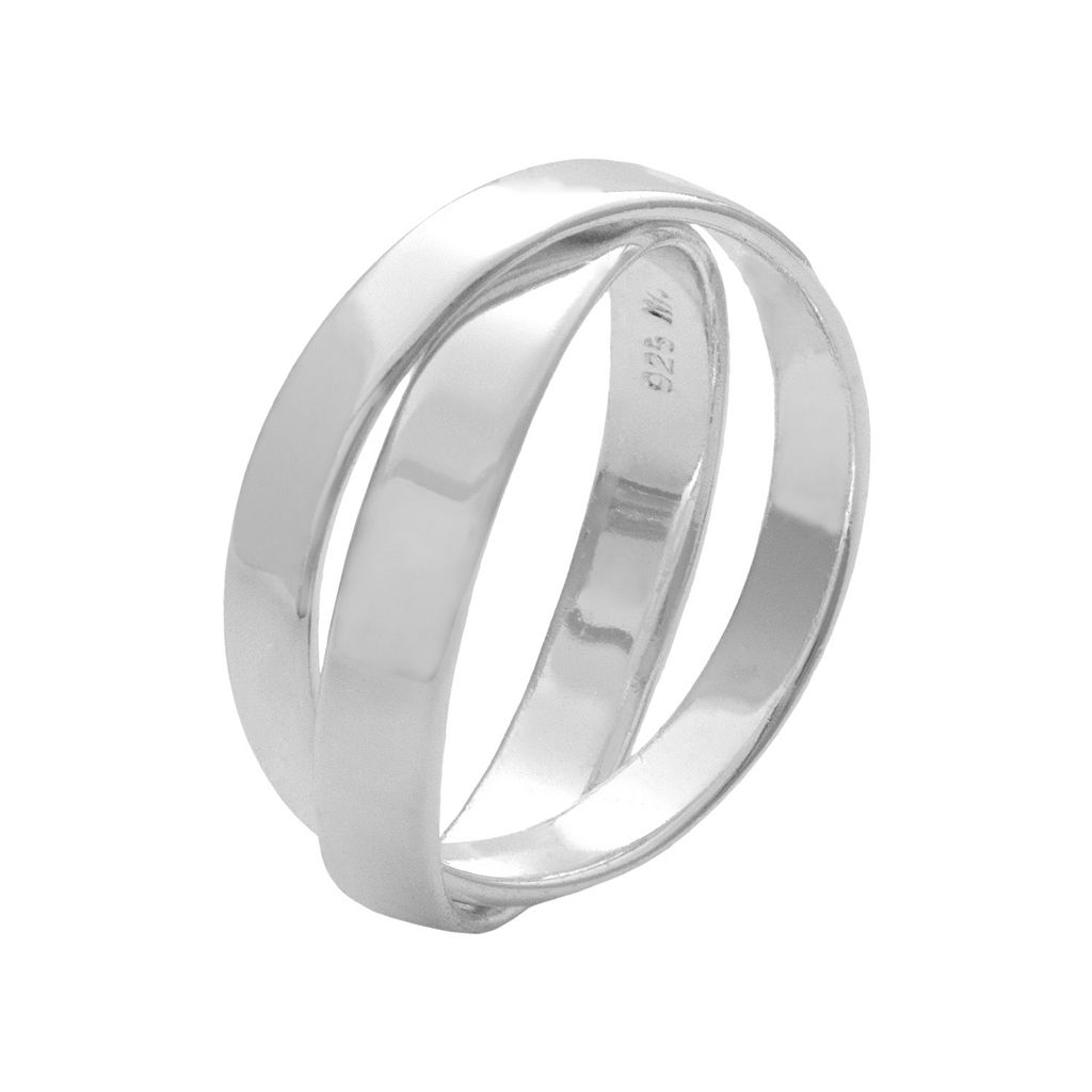 Sterling Silver Interlocking Band Ring