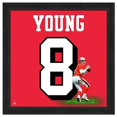 San Francisco 49ers Steve Young Framed Jersey Photo