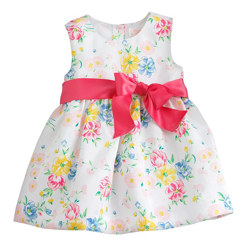 Chaps Floral Dress - Toddler (White)