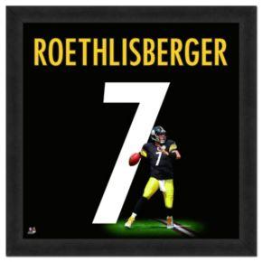 Pittsburgh Steelers Ben Roethlisberger Framed Jersey Photo