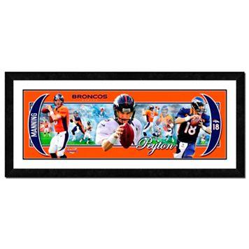 Denver Broncos Peyton Manning Framed Player Photoramic