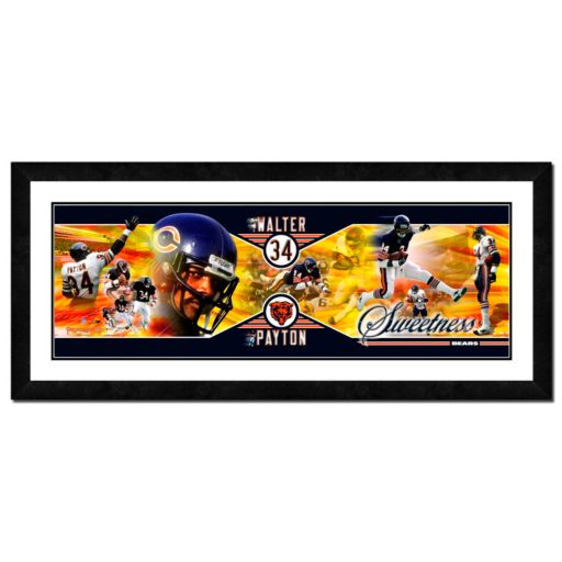 Chicago Bears Walter Payton Framed Player Photoramic