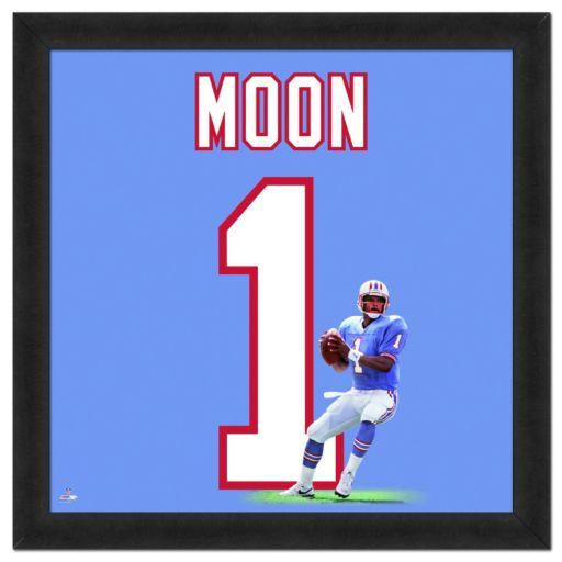 Houston Oilers Warren Moon Framed Jersey Photo
