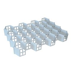 Range Kleen 32-Compartment Honeycomb Drawer Organizer