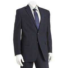 Men's Chaps Classic-Fit Checked Blue Suit Jacket