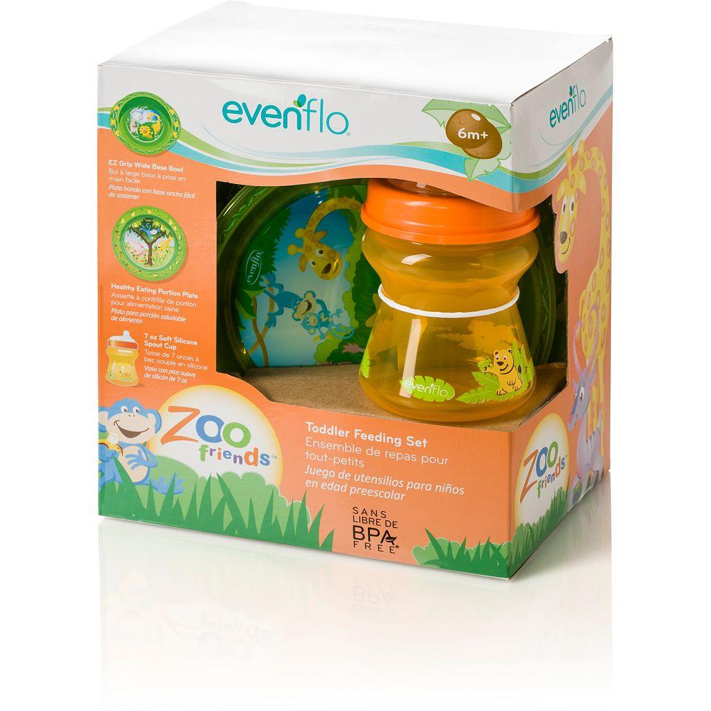 Evenflo Zoo Friends Toddler Feeding Set