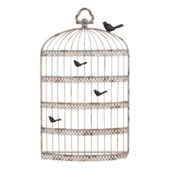 Chalkboard and Birdcage Metal Wall Decor