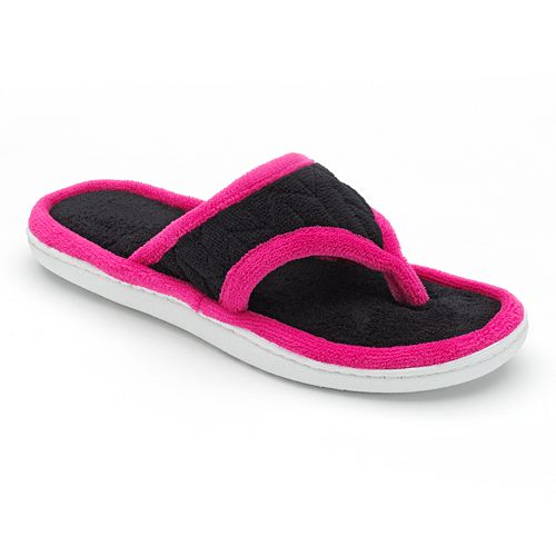 01384052084 isotoner Miley Microterry Thong Slippers - Women