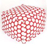 Majestic Home Goods Polka-Dot Large Cube Ottoman