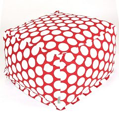 Majestic Home Goods Polka-Dot Large Cube Ottoman