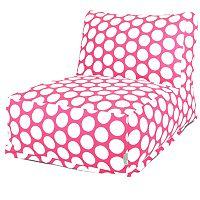 Majestic Home Goods Polka-Dot Beanbag Chair Lounger