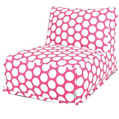 Majestic Home Goods Polka-Dot Beanbag Chair Lounger