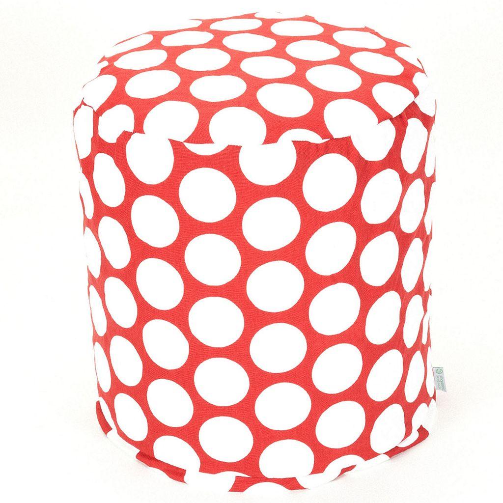Majestic Home Goods Polka-Dot Small Pouf