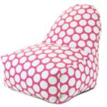 Majestic Home Goods Polka-Dot Kick-It Chair