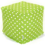 Majestic Home Goods Polka-Dot Small Cube Ottoman