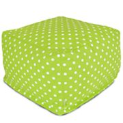 Majestic Home Goods Polka-Dot Large Ottoman