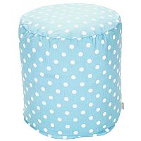 Majestic Home Goods Polka-Dot Small Pouf
