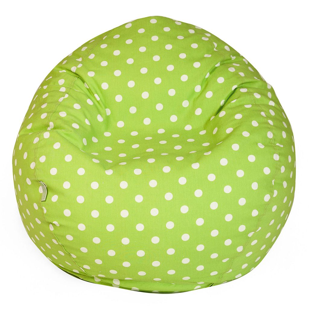 Majestic Home Goods Polka-Dot Small Beanbag Chair
