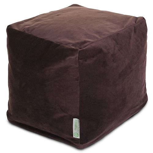 Majestic Home Goods Faux-Suede Small Cube Ottoman