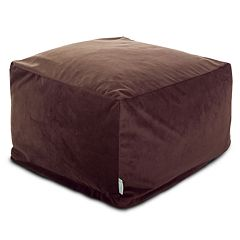 Majestic Home Goods Faux-Suede Large Ottoman