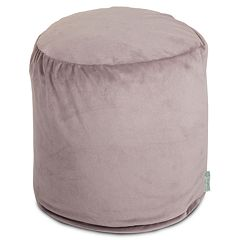Majestic Home Goods Faux-Suede Small Pouf