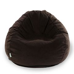 Majestic Home Goods Faux-Suede Small Beanbag Chair