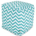 Majestic Home Goods Chevron Small Cube Ottoman