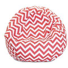 Majestic Home Goods Chevron Small Beanbag Chair