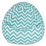 Majestic Home Goods Chevron Small Beanbag Chair